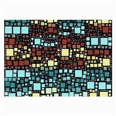 Block On Block, Aqua Large Glasses Cloth by MoreColorsinLife