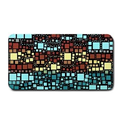 Block On Block, Aqua Medium Bar Mats by MoreColorsinLife