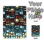Block On Block, Aqua Multi-purpose Cards (Rectangle)  Back 40