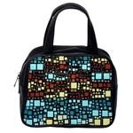 Block On Block, Aqua Classic Handbags (2 Sides) Back