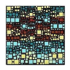 Block On Block, Aqua Face Towel by MoreColorsinLife