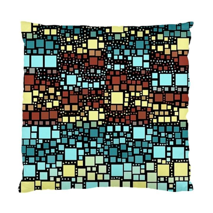 Block On Block, Aqua Standard Cushion Case (Two Sides)