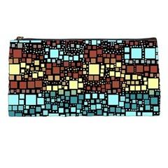 Block On Block, Aqua Pencil Cases by MoreColorsinLife