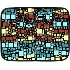 Block On Block, Aqua Double Sided Fleece Blanket (mini)