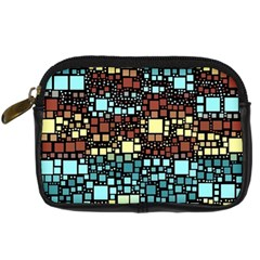 Block On Block, Aqua Digital Camera Cases by MoreColorsinLife