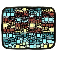 Block On Block, Aqua Netbook Case (xl)
