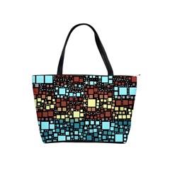 Block On Block, Aqua Shoulder Handbags by MoreColorsinLife