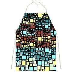 Block On Block, Aqua Full Print Aprons by MoreColorsinLife