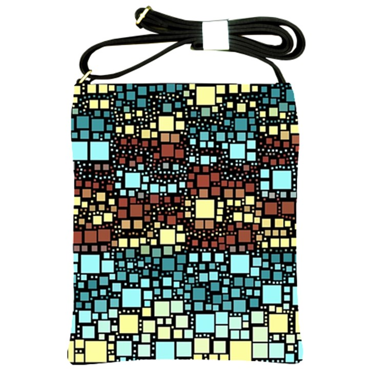 Block On Block, Aqua Shoulder Sling Bags