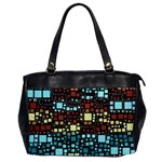 Block On Block, Aqua Office Handbags Front