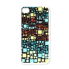 Block On Block, Aqua Apple Iphone 4 Case (white) by MoreColorsinLife
