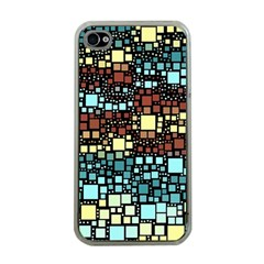 Block On Block, Aqua Apple Iphone 4 Case (clear)