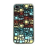 Block On Block, Aqua Apple iPhone 4 Case (Clear) Front
