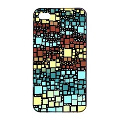 Block On Block, Aqua Apple Iphone 4/4s Seamless Case (black) by MoreColorsinLife