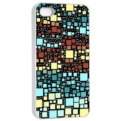 Block On Block, Aqua Apple Iphone 4/4s Seamless Case (white) by MoreColorsinLife