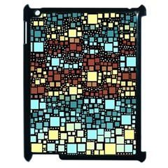 Block On Block, Aqua Apple Ipad 2 Case (black) by MoreColorsinLife