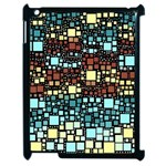 Block On Block, Aqua Apple iPad 2 Case (Black) Front