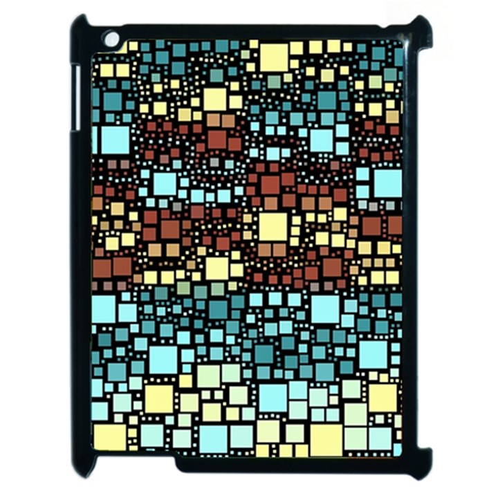 Block On Block, Aqua Apple iPad 2 Case (Black)