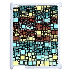 Block On Block, Aqua Apple Ipad 2 Case (white) by MoreColorsinLife