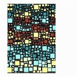 Block On Block, Aqua Small Garden Flag (Two Sides) Front