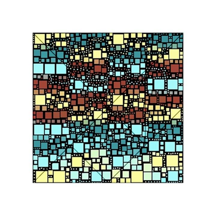 Block On Block, Aqua Acrylic Tangram Puzzle (4  x 4 )