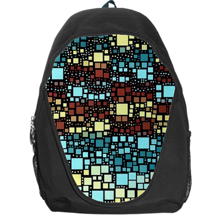Block On Block, Aqua Backpack Bag