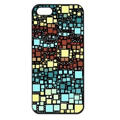 Block On Block, Aqua Apple Iphone 5 Seamless Case (black) by MoreColorsinLife