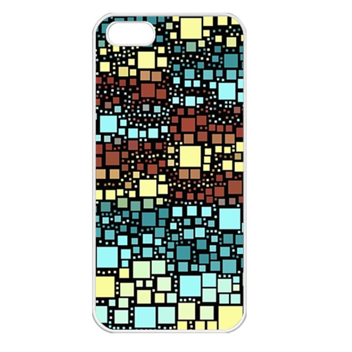 Block On Block, Aqua Apple iPhone 5 Seamless Case (White)