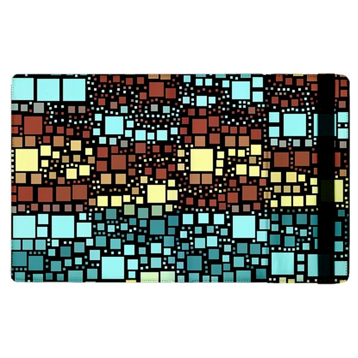 Block On Block, Aqua Apple iPad 3/4 Flip Case