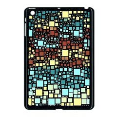 Block On Block, Aqua Apple Ipad Mini Case (black) by MoreColorsinLife