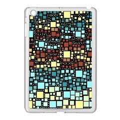 Block On Block, Aqua Apple Ipad Mini Case (white) by MoreColorsinLife