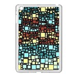 Block On Block, Aqua Apple iPad Mini Case (White) Front