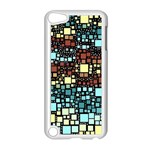 Block On Block, Aqua Apple iPod Touch 5 Case (White) Front