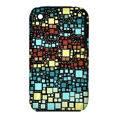 Block On Block, Aqua Apple Iphone 3g/3gs Hardshell Case (pc+silicone) by MoreColorsinLife