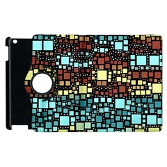 Block On Block, Aqua Apple Ipad 2 Flip 360 Case by MoreColorsinLife