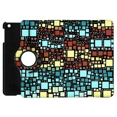 Block On Block, Aqua Apple Ipad Mini Flip 360 Case