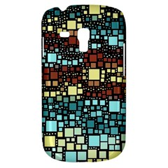 Block On Block, Aqua Samsung Galaxy S3 Mini I8190 Hardshell Case by MoreColorsinLife