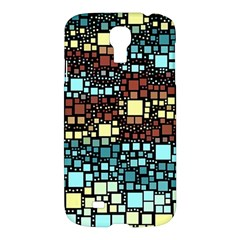 Block On Block, Aqua Samsung Galaxy S4 I9500/i9505 Hardshell Case by MoreColorsinLife