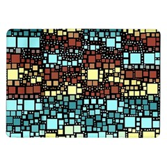 Block On Block, Aqua Samsung Galaxy Tab 10 1  P7500 Flip Case