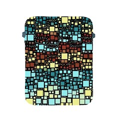 Block On Block, Aqua Apple Ipad 2/3/4 Protective Soft Cases by MoreColorsinLife