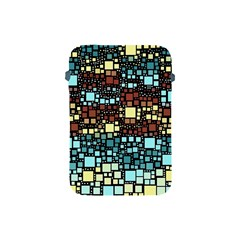 Block On Block, Aqua Apple Ipad Mini Protective Soft Cases by MoreColorsinLife