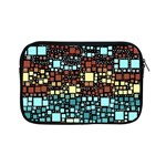 Block On Block, Aqua Apple iPad Mini Zipper Cases Front