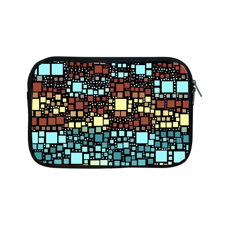 Block On Block, Aqua Apple iPad Mini Zipper Cases