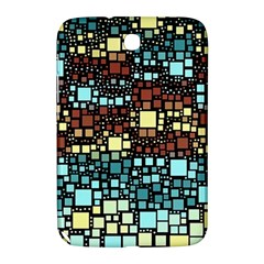 Block On Block, Aqua Samsung Galaxy Note 8 0 N5100 Hardshell Case  by MoreColorsinLife