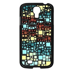 Block On Block, Aqua Samsung Galaxy S4 I9500/ I9505 Case (black) by MoreColorsinLife