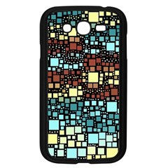 Block On Block, Aqua Samsung Galaxy Grand DUOS I9082 Case (Black)