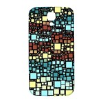 Block On Block, Aqua Samsung Galaxy S4 I9500/I9505  Hardshell Back Case Front