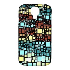 Block On Block, Aqua Samsung Galaxy S4 Classic Hardshell Case (pc+silicone) by MoreColorsinLife