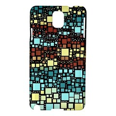 Block On Block, Aqua Samsung Galaxy Note 3 N9005 Hardshell Case by MoreColorsinLife