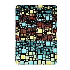 Block On Block, Aqua Samsung Galaxy Tab 2 (10 1 ) P5100 Hardshell Case  by MoreColorsinLife